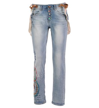 jeans desigual tinto large avec bretelles desigual bleu. Black Bedroom Furniture Sets. Home Design Ideas