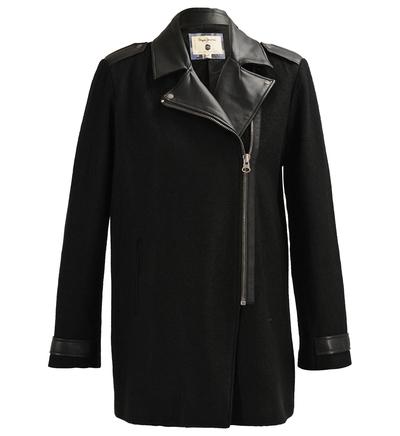 manteau rusell pepe jeans noir pour femme manteau galeries lafayette ventes pas. Black Bedroom Furniture Sets. Home Design Ideas