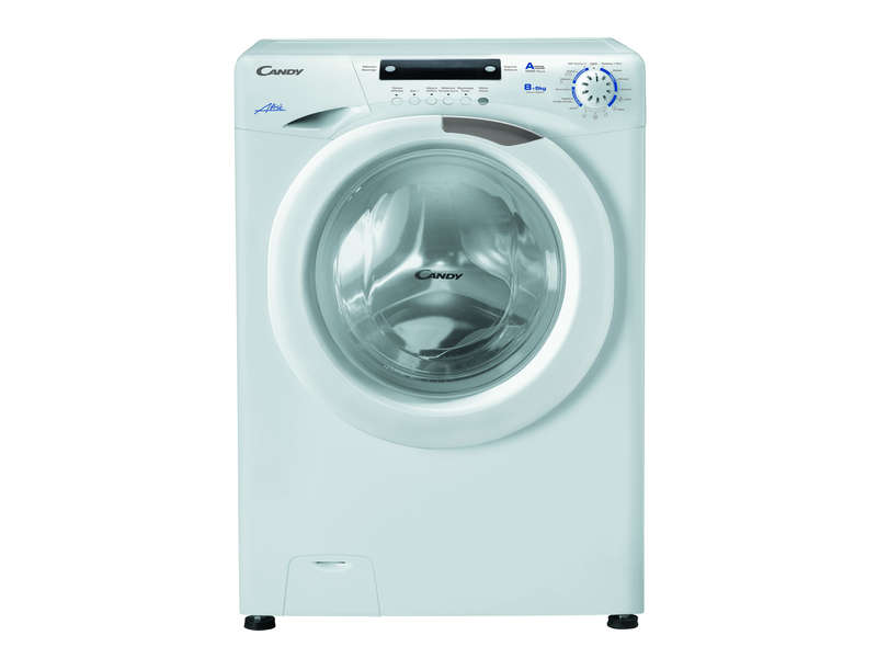 Lave linge frontal s chant 8 kg candy evow485d lave for Lave linge encastrable conforama