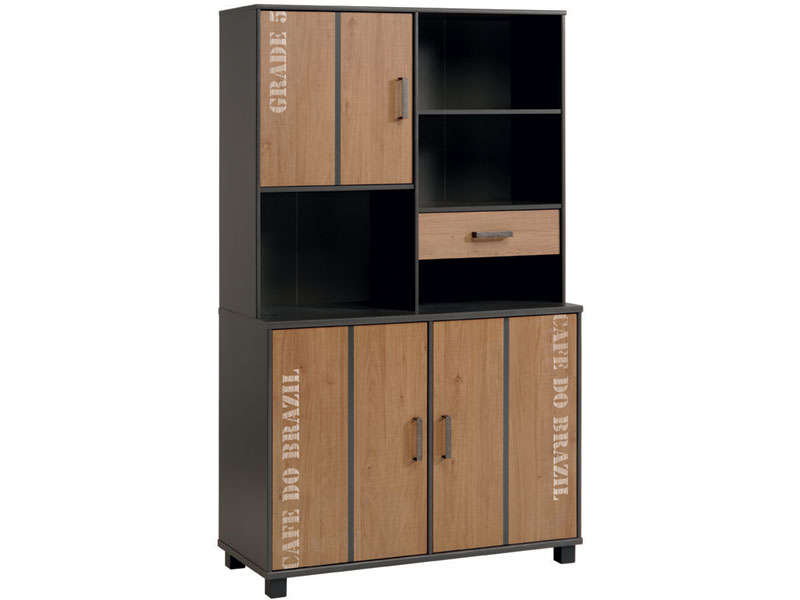 Buffet 110 cm carling buffet et vaisselier conforama for Petit meuble de rangement conforama