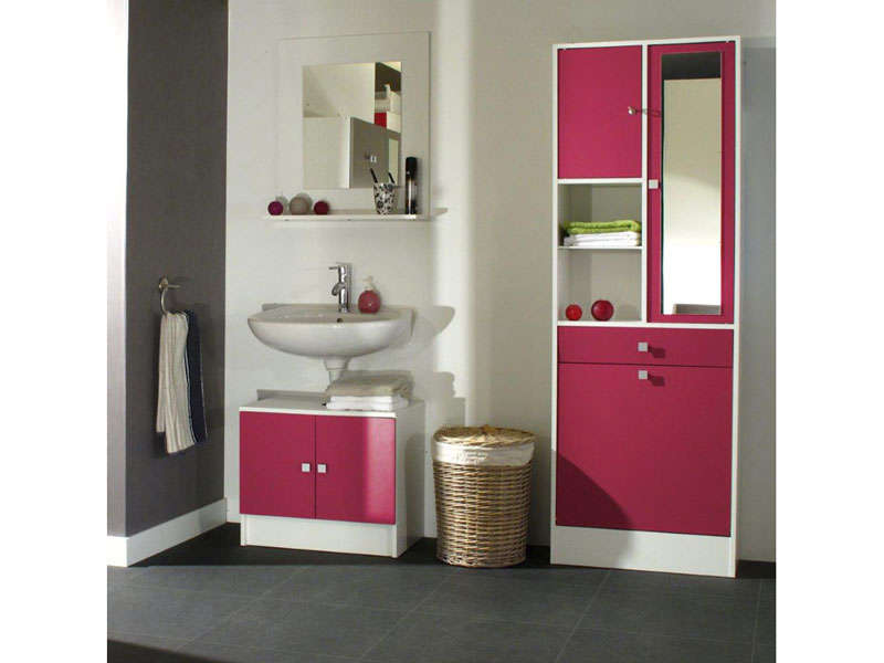 meuble sous lavabo miroir ling re wave meuble de. Black Bedroom Furniture Sets. Home Design Ideas