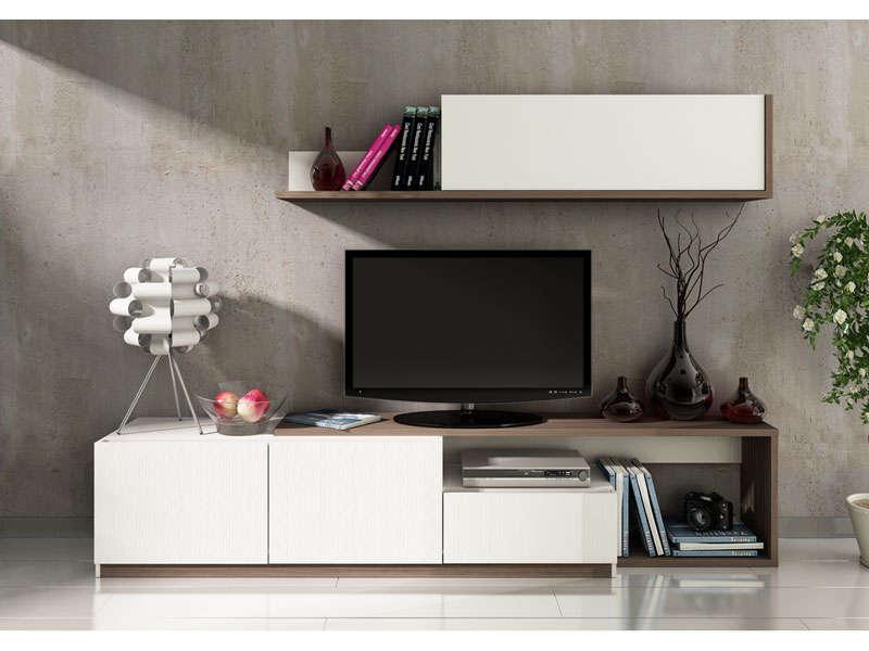 Mur Tv 3 Portes 1 Tiroir Otawa Meuble Tv Conforama Ventes Pas Cher Com