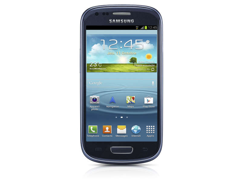 smartphone samsung galaxy s3 mini bleu smartphone conforama ventes pas. Black Bedroom Furniture Sets. Home Design Ideas