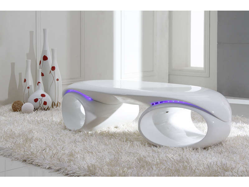 table basse space coloris blanc conforama