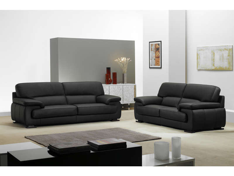 soldes canap conforama canap fixe 2 places balsamo coloris noir ventes pas. Black Bedroom Furniture Sets. Home Design Ideas
