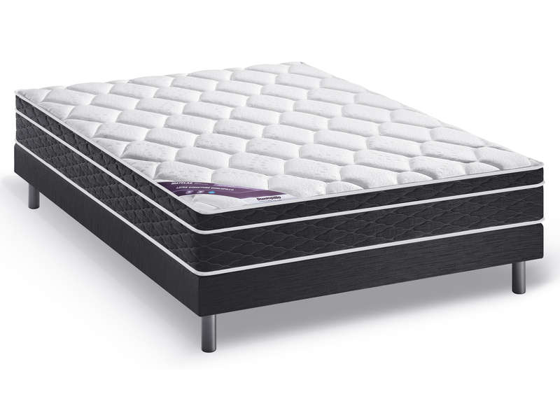 matelas sommier latex 140x190 cm dunlopillo precious moment promo matelas conforama ventes. Black Bedroom Furniture Sets. Home Design Ideas