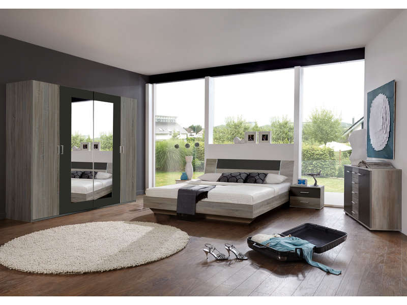 chambre compl te jenny chambre pas cher conforama ventes pas. Black Bedroom Furniture Sets. Home Design Ideas