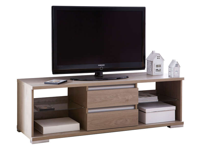 meuble tv 4 niches 2 tiroirs malo meuble tv conforama ventes pas. Black Bedroom Furniture Sets. Home Design Ideas