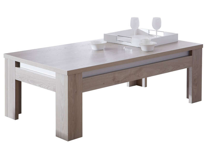 Table basse rectangulaire malo table basse conforama Table grise conforama