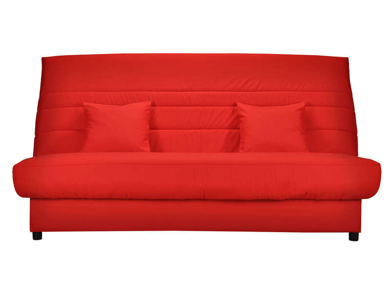 banquette lit clic clac alice coloris rouge banquette conforama ventes pas. Black Bedroom Furniture Sets. Home Design Ideas