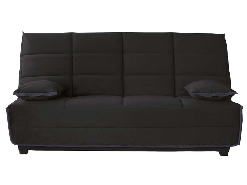 banquette lit clic clac avec matelas dunlopillo elea. Black Bedroom Furniture Sets. Home Design Ideas