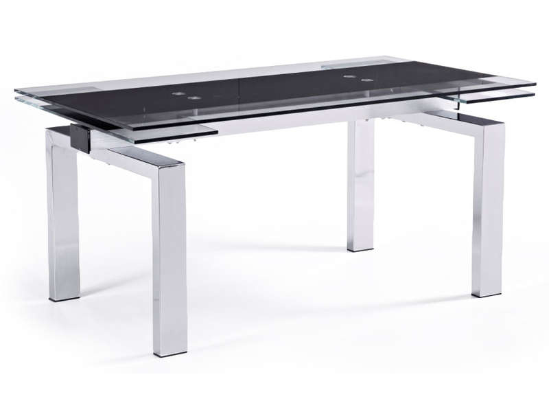 Table verre trempe conforama for Tables salle a manger conforama