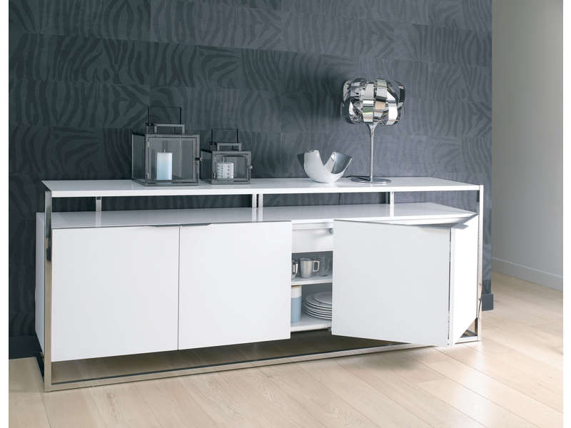 affordable buffet highlight coloris blanc with buffet pas cher conforama with vaisselier conforama. Black Bedroom Furniture Sets. Home Design Ideas