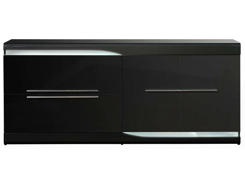 buffet ovio coloris noir laqu buffet conforama pas cher ventes pas. Black Bedroom Furniture Sets. Home Design Ideas