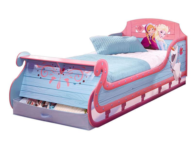 lit traineau 90x190 cm reines des neiges lit b b. Black Bedroom Furniture Sets. Home Design Ideas