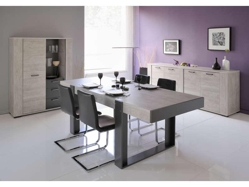 buffet new bop w coloris gris buffet conforama pas cher ventes pas. Black Bedroom Furniture Sets. Home Design Ideas