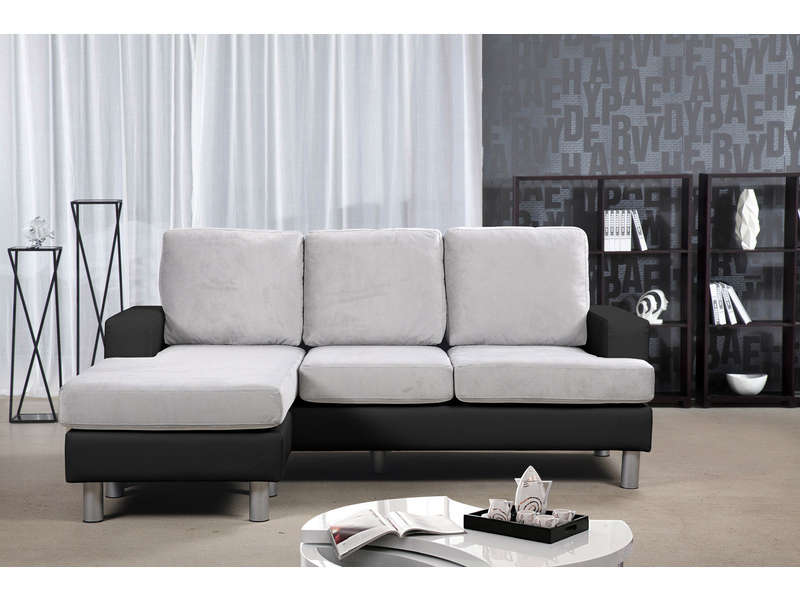 canap d 39 angle r versible 3 places ronane canap conforama ventes pas. Black Bedroom Furniture Sets. Home Design Ideas