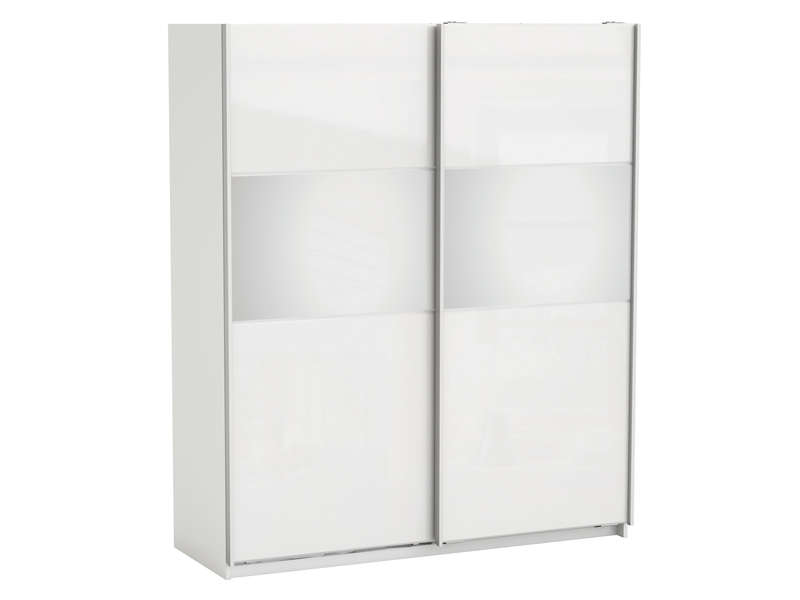 armoire strass w coloris blanc armoire conforama pas. Black Bedroom Furniture Sets. Home Design Ideas