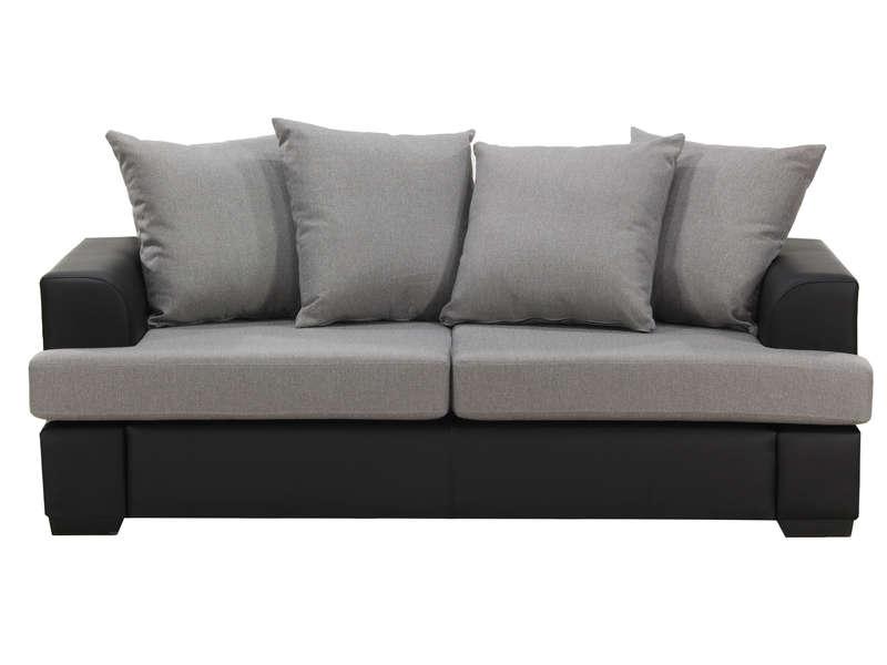canap fixe 3 places coloris beige pas cher canap conforama ventes pas. Black Bedroom Furniture Sets. Home Design Ideas
