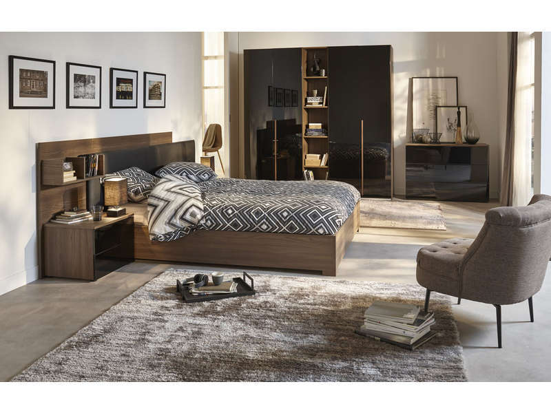lit coffre 160x200 cm pablo lit conforama pas cher. Black Bedroom Furniture Sets. Home Design Ideas