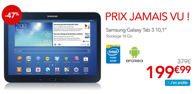 tablette samsung galaxy tab 3 moins de 200 sur rue du commerce ventes pas. Black Bedroom Furniture Sets. Home Design Ideas