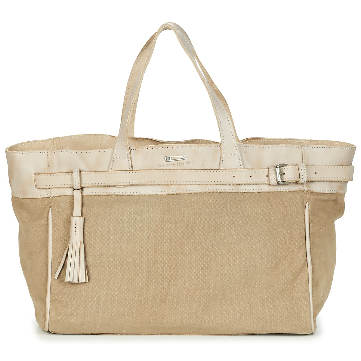 Cabas / Sac shopping Ikks THE SOLDIER Beige, Sacs Spartoo