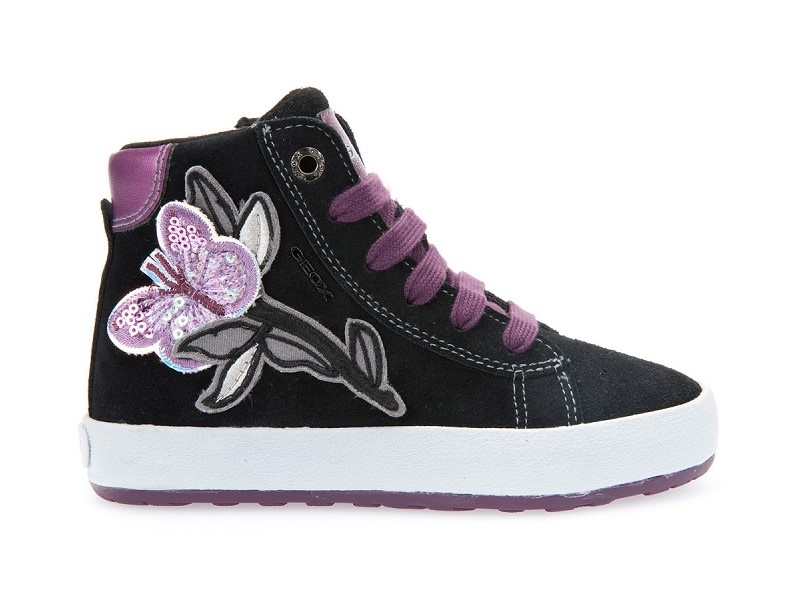 Jr Witty Fille Sneakers Noir Geox - Baskets Fille Geox