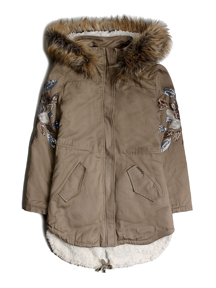 PARKA PAILLETTES DECORATIVES Guess