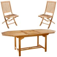 soldes table la maison de valerie table octogonale 6 chaises teck fidji ventes pas. Black Bedroom Furniture Sets. Home Design Ideas