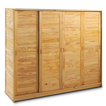 armoire la maison de valerie armoire 4 portes m lissa naturel prix 319 99 euros ventes pas. Black Bedroom Furniture Sets. Home Design Ideas