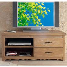 meuble tv la maison de valerie meuble tv cran plat 2 tiroirs sologne ch ne dor ventes. Black Bedroom Furniture Sets. Home Design Ideas