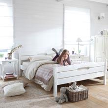 soldes lit la maison de valerie lit 140x190 sommier blanc artanne ventes pas. Black Bedroom Furniture Sets. Home Design Ideas