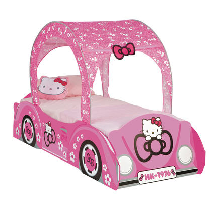 promo lit la maison de valerie lit 90 x 190 cm voiture hello kitty ventes pas. Black Bedroom Furniture Sets. Home Design Ideas
