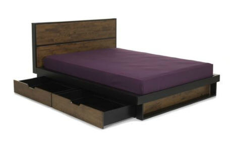 lit alinea pas cher lit en h v a 140x200 cm spirit ventes pas. Black Bedroom Furniture Sets. Home Design Ideas