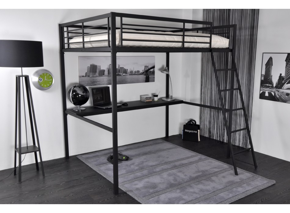 lit vente unique promo lit mezzanine ingenio prix 169. Black Bedroom Furniture Sets. Home Design Ideas