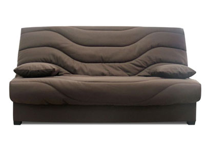 soldes canap conforama soldes banquette clic clac en tissu maria chocolat prix 199 90 euros. Black Bedroom Furniture Sets. Home Design Ideas