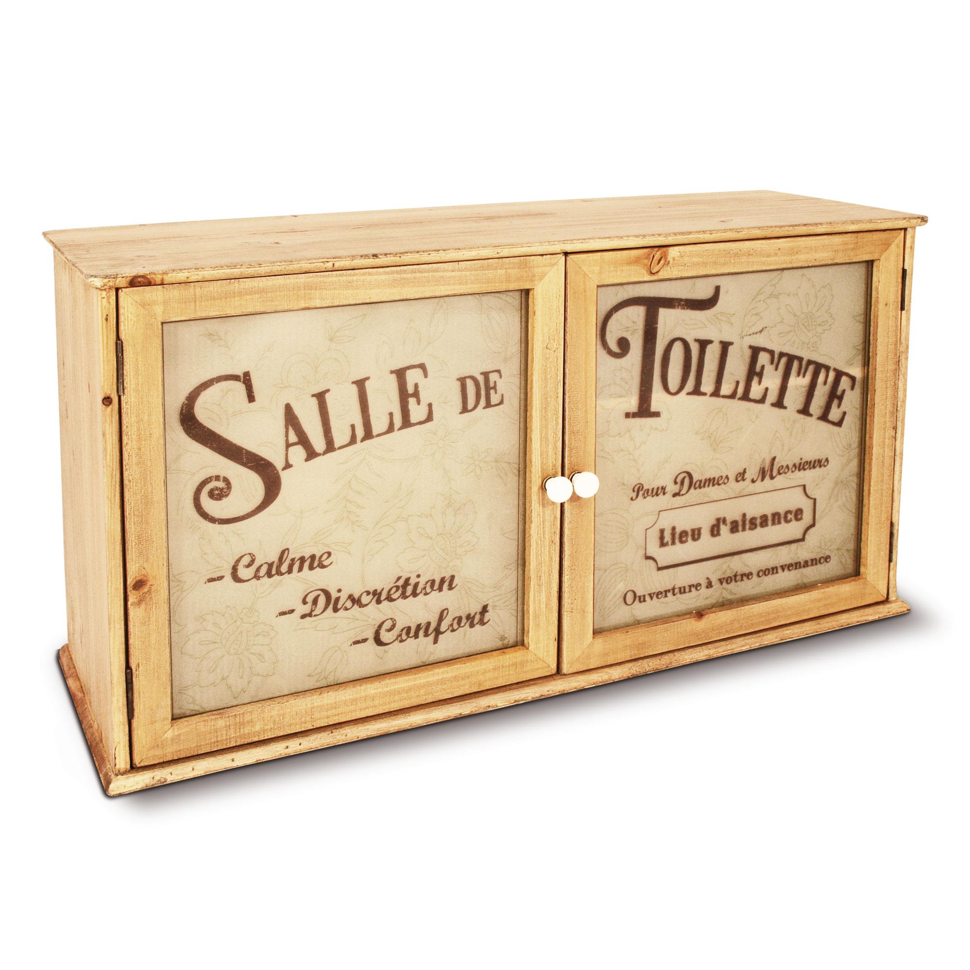 Meuble Wc En Bois 2 Portes Salle De Toilette Balneo Natives Delamaison Ventes Pas Cher Com