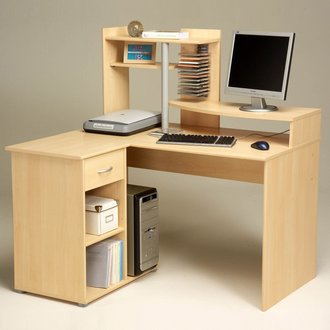 Bureau informatique delamaison bureau multim dia d 39 angle for Meuble informatique d angle