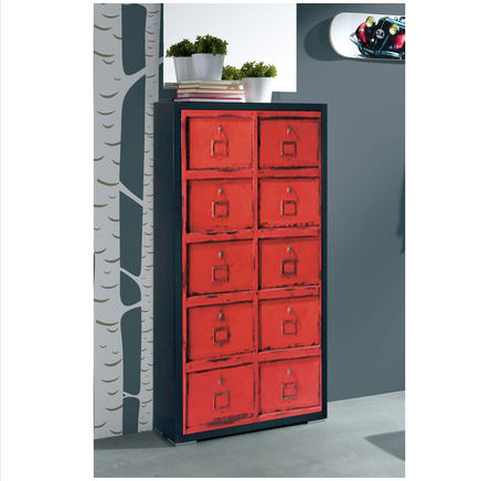 meuble chaussure fly rouge. Black Bedroom Furniture Sets. Home Design Ideas