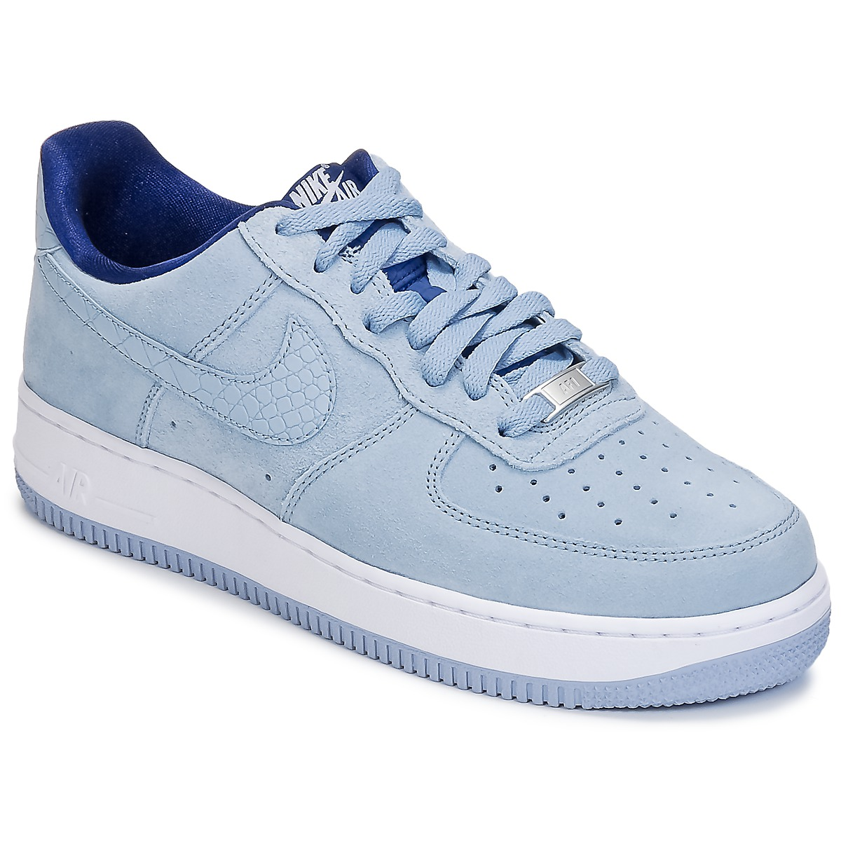 baskets basses nike air force 1 39 07 seasonal w bleu baskets femme spartoo ventes pas. Black Bedroom Furniture Sets. Home Design Ideas