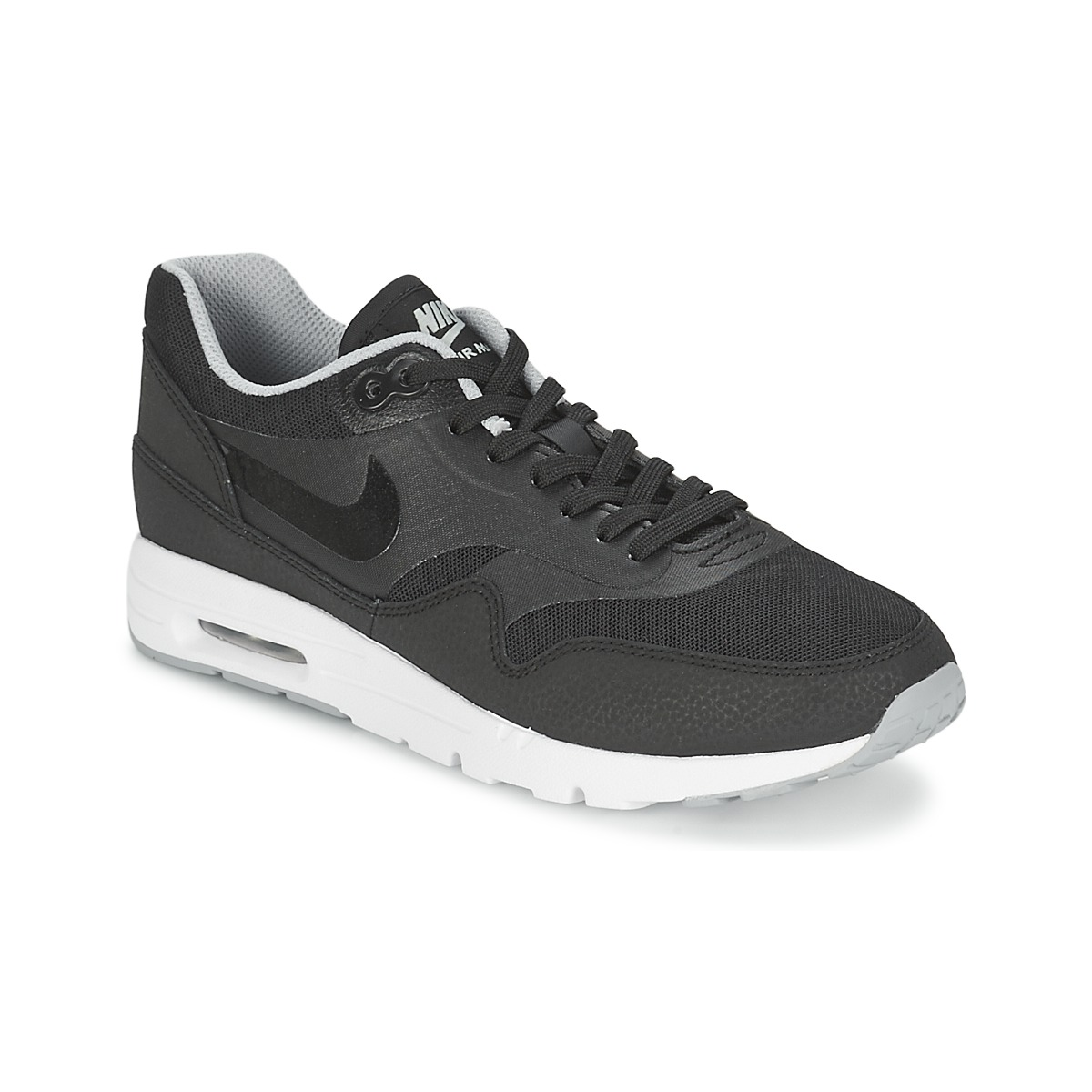 baskets basses nike air max 1 ultra essentials noir baskets femme spartoo ventes pas. Black Bedroom Furniture Sets. Home Design Ideas