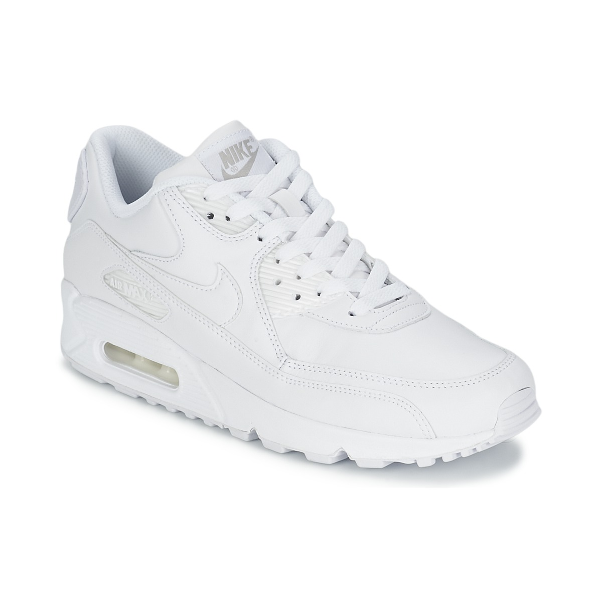 baskets basses nike air max 90 ultra essential w blanc gris baskets femme spartoo ventes. Black Bedroom Furniture Sets. Home Design Ideas