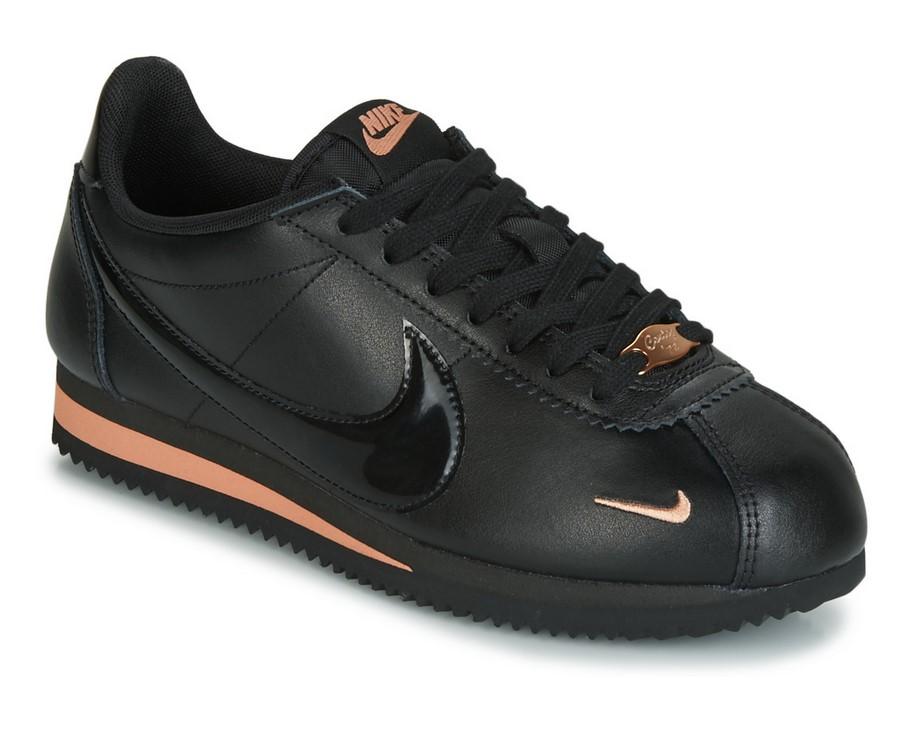 Nike CLASSIC CORTEZ PREMIUM W Noir / Or pour Femme