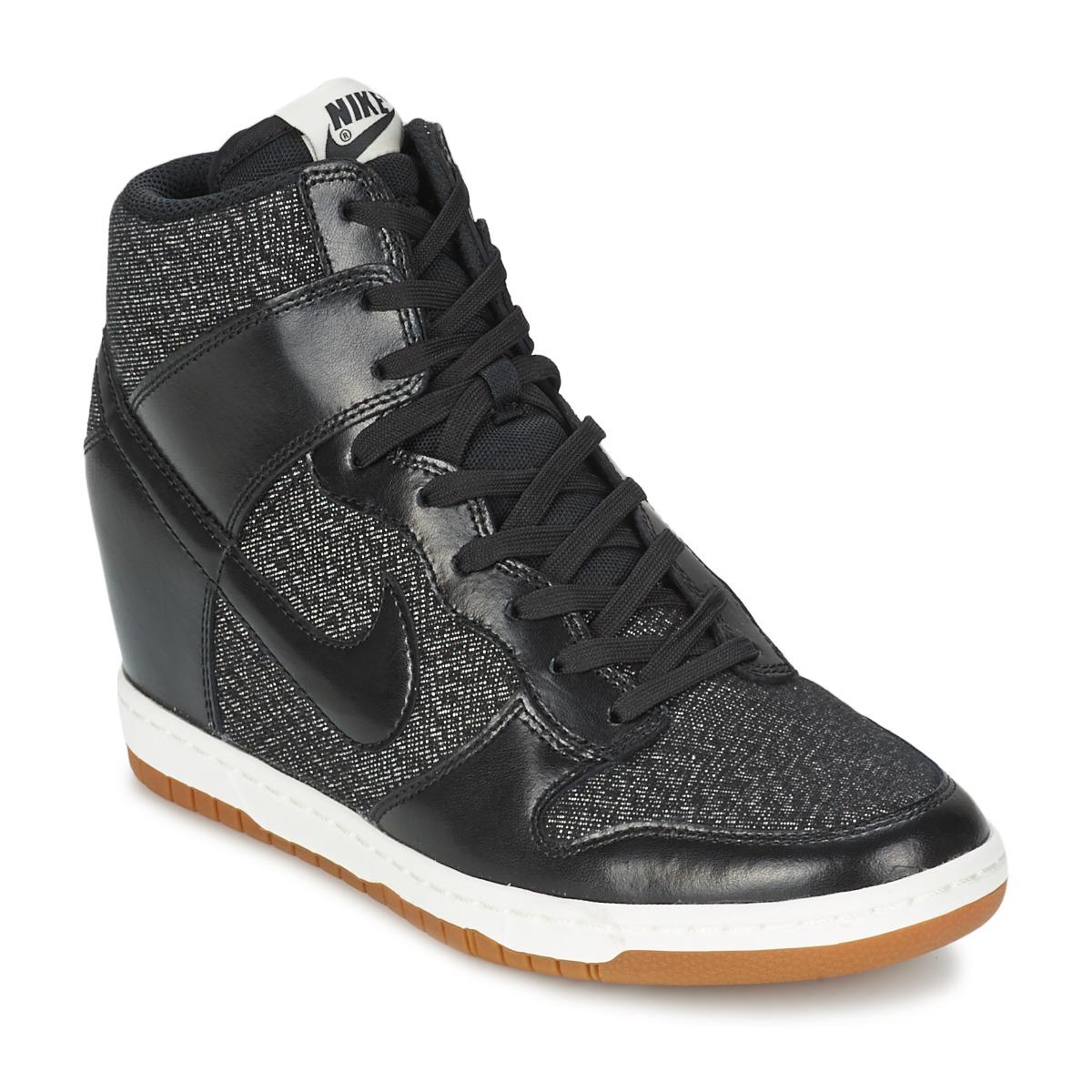 Baskets montantes Nike DUNK SKY HI ESSENTIAL Noir Noir
