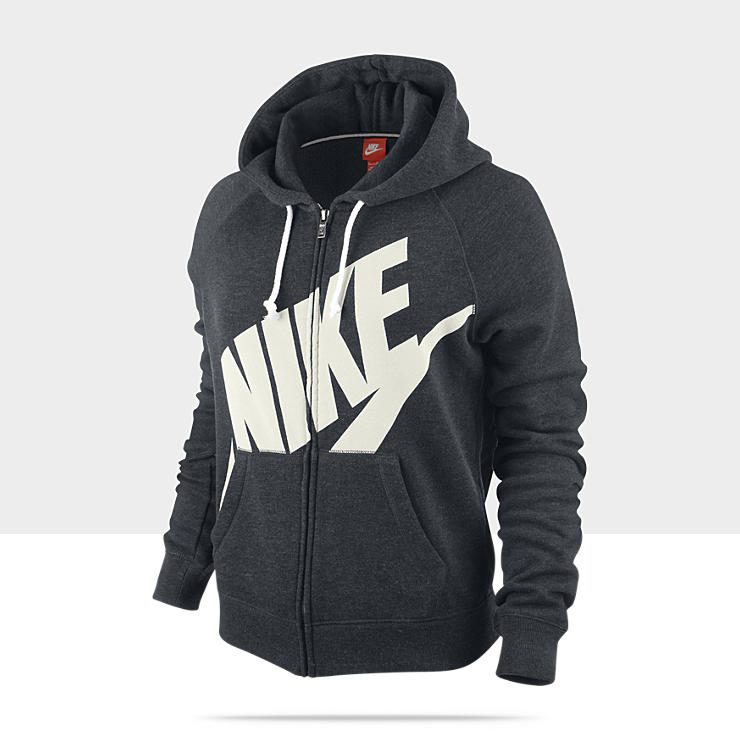 Nike Sweat à Capuche Tech Fleece Cape Gris Femme