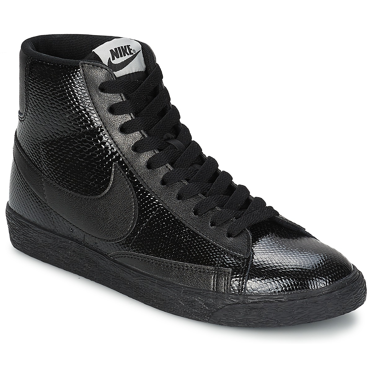 nike blazer en cuir noir femme. Black Bedroom Furniture Sets. Home Design Ideas