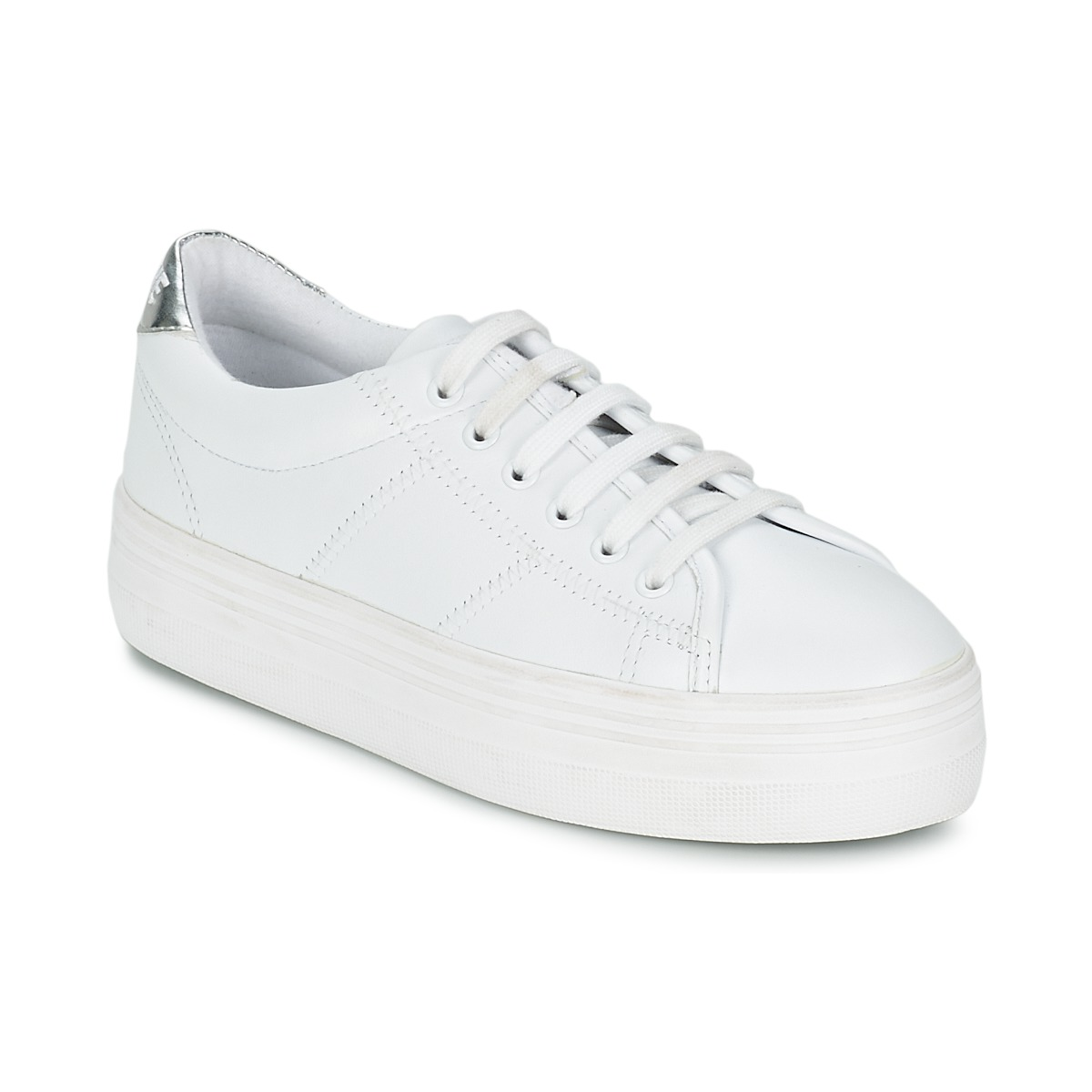 Baskets basses No Name PLATO SNEAKER Blanc / Argent