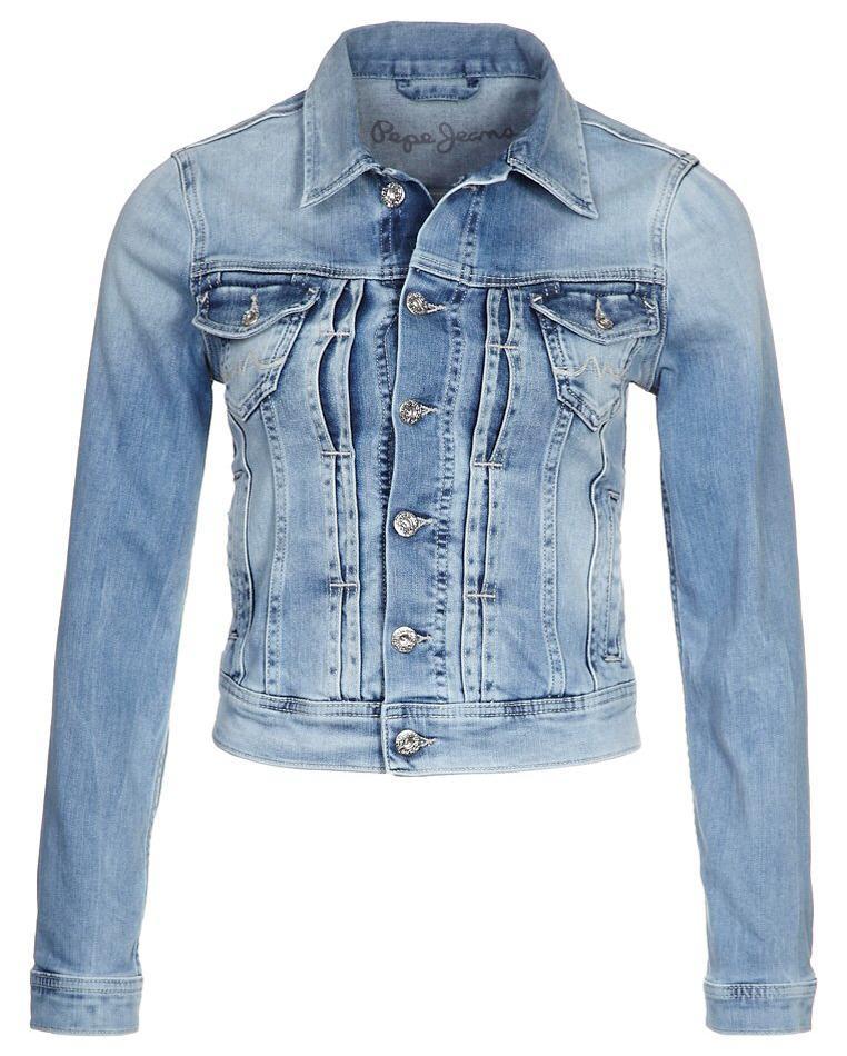 veste femme zalando veste en jean pepe jeans mikas bleu ventes pas. Black Bedroom Furniture Sets. Home Design Ideas