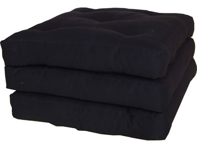 promo pouf conforama pouf futon 3 plis coloris noir. Black Bedroom Furniture Sets. Home Design Ideas