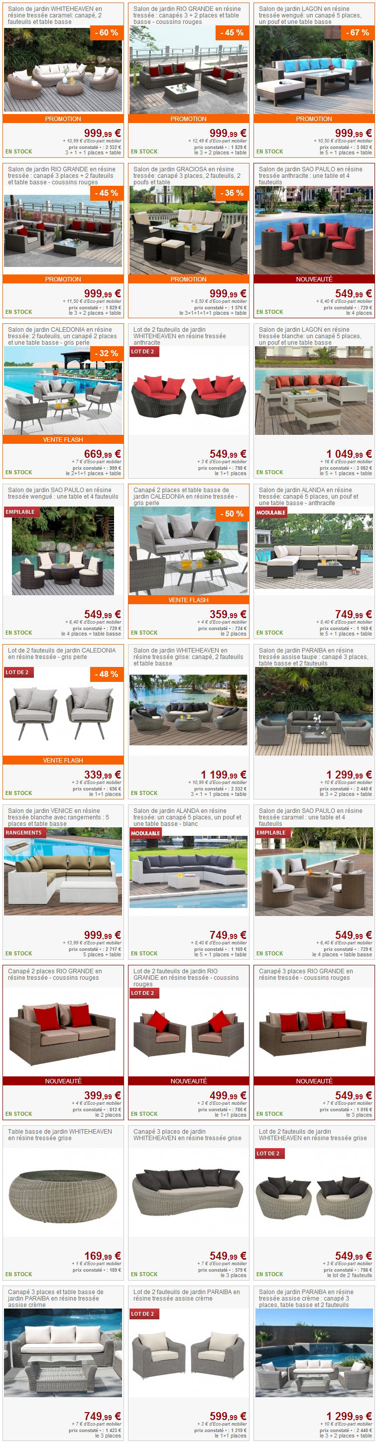 salon de jardin pas cher vente unique 1er prix ventes pas. Black Bedroom Furniture Sets. Home Design Ideas